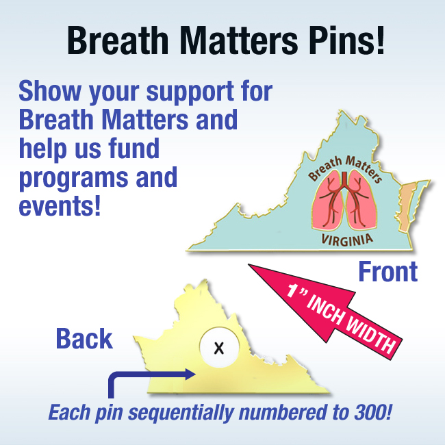 Breath Matters Pins